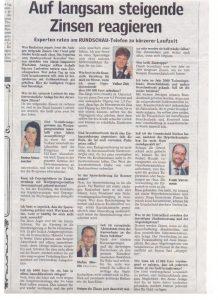 Als Experte des Bundesverbandes Deutscher Banken beim Telefonforum der Lausitzer Rundschau am 15.06.2006